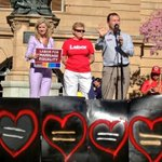 Great afternoon at Equal Love rally! Saw @GrahamPerrettMP there too. What a great cause! #marriageequality #auspol http://t.co/rC0nuP84EI