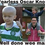 RT @glesgabhoy71: &quot;@BroxibearWATP: Here is a update photo of Oscar Knox. #KickinCancersAss http://t.co/3yQfdkeLZl&quot; &amp;lt; Nice touch.
