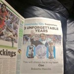 Mancini took an ad in the MEN today with money from his own pocket to thank the fans. Pure class