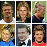 A look at some of David Beckham's most famous haircuts |  http://t.co/MuFra3OErU -