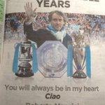 Well miss u Mancio, Big Thanks &quot;@MCFCmemories: Thank you from Mancini. http://t.co/4vCLNLWKh6&quot;