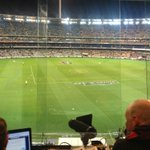Great view to be doing radio for our game tonight against the pies on @KROCKFootball #shouldbeacracker #gocats http://t.co/TRbU8sKf33