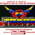 TODOS CON DISCIPLINA A TWITTEAR Y RETWITTEAR EL HT  #TropaUnidaConMaduro RT a esta imagen para que llegue a todos http://t.co/unIqzjjWsz