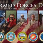 .@USArmy: Uniforms differ, but playing d same team. Happy Armed Forces Day @USNavy @USAirForce @USMC @USCoastGuard! http://t.co/00tEtQOoWW