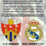 CD Ourense - Real Madrid C (Domingo 18 horas) !!! GRAZAS !!! http://t.co/JumT34O5yY