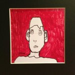 The latest addition to my art collection-self portrait by 7 year old Michael McLawhorn. Its AWESOME! Thanks guys! http://t.co/4VH1u6CutK
