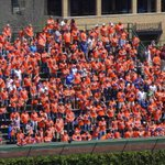 RT @AdamRubinESPN: A look at the filled-in orange #Mets cheering section in Wrigley bleachers: http://t.co/MXeWP3erLY