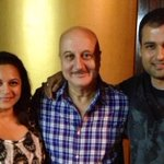 With @AnupamPkher and @manasijoshiroy backstage ....