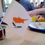 The Dining Hall is all Eurovision! Were sitting on Cyprus :) http://t.co/ZdLmIF4CUq
