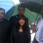 The directors in monsoon mode at Cannes!!!! #BombayTalkies