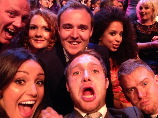 Time for the awards!!! @alanhalsall @NatalieGumede @michkeegan @antonycotton http://t.co/eT3spZYpf2