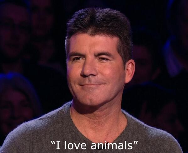 """Simon Cowell: """"I'm slightly disappointed because I actually thought the donkey was going to do a mountain range."""" http://t.co/mY8bkaXAc0"""