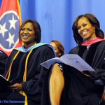 &quot; @Tennessean Heres @FLOTUS Michelle Obama at Martin Luther King, Jr. Magnet School graduation today. #FLOTUSMLK http://t.co/v7CJwi78ZL &quot;