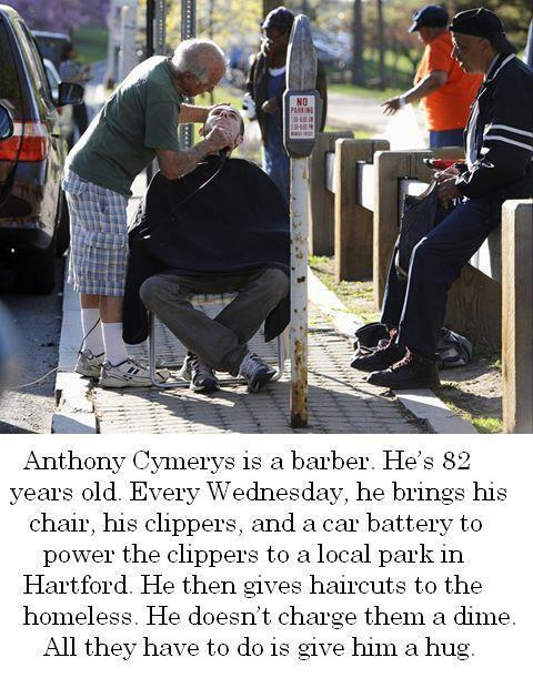 Anthony is definitely making the world better, one haircut at a time. http://t.co/dLQwn706jt