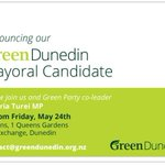 Dunedin Greens will announce Green Mayoral and council candidate on Friday. http://t.co/OAfm8Fclm4