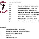 Akwesasne Girls Got Game schedule has been released. Goodluck to all teams attending. #OSWBLL @OntarioLacrosse http://t.co/jAaaRp5TZz