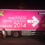 Shot just outside the arena. Nice preparation, Danish television! #esc2013 #2014 http://t.co/qGz3rvleKC