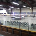 Set up at the Merv Moore Arena in #Melville has begun!! #WARFARE goes.down tonight!! http://t.co/KRKBwMbgyx