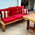 A table &amp; sofa we made today for the deck @willowonwascana   Coming soon to Beer Bros too. http://t.co/0SLlzHHu8N