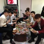 &quot;@2PMagreement211: 2PM Group shot! Mwahaha ^^ Guest appearance by Namyong-shin in the middle lol Inkigayo fighting!! http://t.co/lbmsQqXVdH&quot;