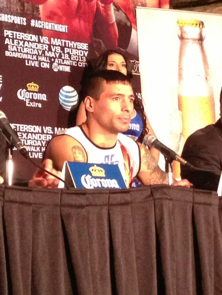 PIC: #Matthysse - ' @DannySwift is the fight I've been looking for. It's the fight I want.' #ACFightNight http://t.co/5eXrh6dVSC