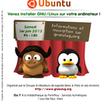 RT @booloki: Rappel: Install Party #Linux samedi 1er juin  la Mdiathque du Pontiffroy
