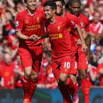 @LFC: Coutinho and Lucas celebrate our first goal in the new home kit: #RiseUpLFC @LFCBrasil @WARRIOR_FTBL http://t.co/XlCyvrfSoR
