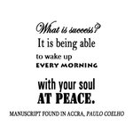 @paulocoelho: Good morning! What is success? &gt; http://t.co/a2bBjroX5f #truth #inpeace