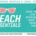 Vandaag Beach Essentials 15:00-02:30 @Boomerang_Beach @DominiqueBase @ArthurVanDyk @RJDJMacLennan #GratisEntree B-) http://t.co/TkfKHzM5Um