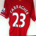 RT @BIGREDS_IOLSC: The last @LFC shirt (new one) Carra will ever wear, hanging up right now in the   #RiseUpLFC http://t.co/RrlrU9BgXa