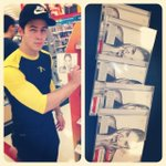 """@ddlovato: Look at this guy... Said he bought every copy they had..!!! Love you @nickjonas, you are the best!!!! 😊 http://t.co/kwXgEDxHxC"""