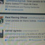 Atencion al Tweet del Twitter Oficial del Racing. Mario Sotres??? Puajajajajana http://t.co/vm6G0tNUxg