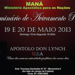 Daqui a pouco no MANA Apstolo Don Lynch - Flrida - USA http://t.co/5g9qbaF9ZK
