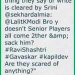Every thing they say or write is cleared by Srini @sekhardalmia: @LalitKModi Bro y doesn't Senior (cont)