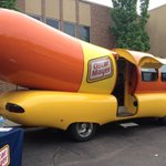 The #wienermobile made a stop at the Asbury Methodist Church in #SiouxFalls for a fundraiser, this morning! #ksfy http://t.co/bfgdD6JPPU