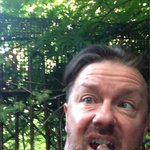 @rickygervais:now in my garden drinking wine,smoking a cigar like the right fucking sophisticated toff wot I am http://t.co/hwhTKK3EBfswag