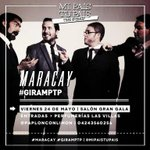 RT @JGDurand: #MARACAY @mipaistupais estar el viernes 24 de Mayo, saln Gran Gala. #TeLoJuroQueLosAmoRico http://t.co/znPmNBKzv8