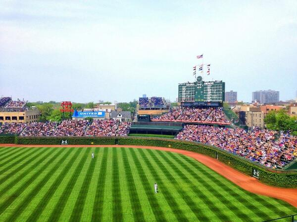 Chicago weather doesn't get much better than this. #CubsvsMets http://t.co/g8MabZwWed