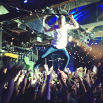 Back in March @Macklemore was swinging from the rafters at #PandoraSXSW, now he's onstage at #BBMA!