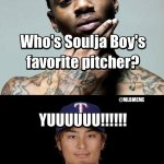 @MLBMeme: Yu Darvish is leading all of baseball in strikeouts! #Rangers http://t.co/L2f0pb27WO