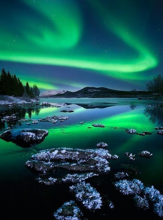 Aurora borealis, Norway. http://t.co/M1YTx4O1tg