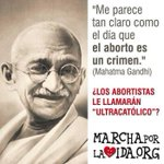 Segn @AAlvarezAlvarez, @elisabeni, etc..., Mahatma Gandhi es un &quot;ultra-catlico&quot; #BorraElAborto http://t.co/38cDm3Dfeq