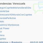 #SegnCaprilesMaanaSeraElDa esta de 1ro en tendencia en Twitter a nivel mundial. Sigan al lder @hcapriles http://t.co/uhUd00no7T&quot;