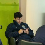 RT @MCFC: Just one final text for @aguerosergiokun before the team is called to board! #cityontour #mcfc http://t.co/Xh3LG3VcWp