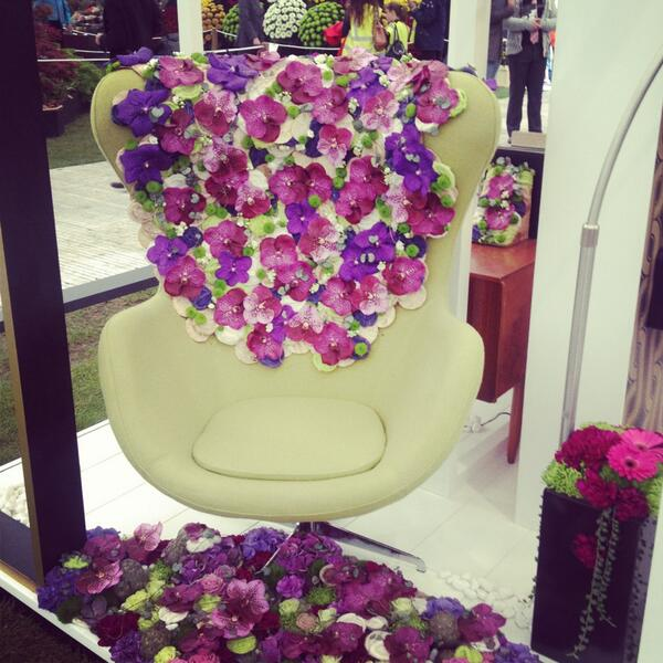 Retro 70's furniture adorned in blooms #rhschelsea http://t.co/xGmRmo7onf