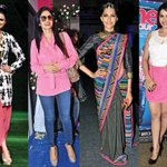 Fashion: @sonamakapoor and @ParineetiChopra flaunt pink. - http://t.co/qRD5Afzq4e ::