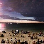 Perth, Australia. Fireworks, lightning, sunset, and a comet, on the beach all in one image. http://t.co/gopty8afnA #perth @ThatsEarth