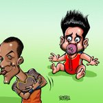 Cartoon: When Sammy silenced Kohli. http://t.co/ieAh3B7nLV