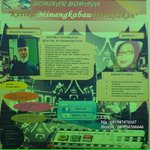 Bagi anak mudo minang yg cinto nagari mari ikuti Seminar kebudayaan &quot;ketika minangkabau terlupakan&quot; http://t.co/9rsEqfIc56 -@shintatrieutami