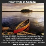 Because on 5 Dec 12, Canada went from 2.5 million protected rivers & lakes to 159 protected #PMHarperMustResign http://t.co/FdCcBUQBX2